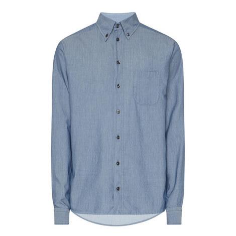 Slim Fit Chambray Shirt, ${color}