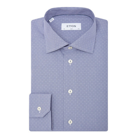 Slim Dotted Dobby Shirt, ${color}