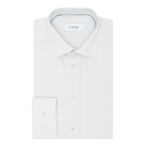 Micro Print Slim Fit Shirt, ${color}