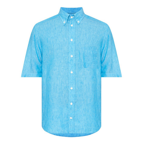 Short Sleeve Linen Shirt , ${color}
