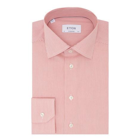 Fine Stripe Poplin Shirt, ${color}