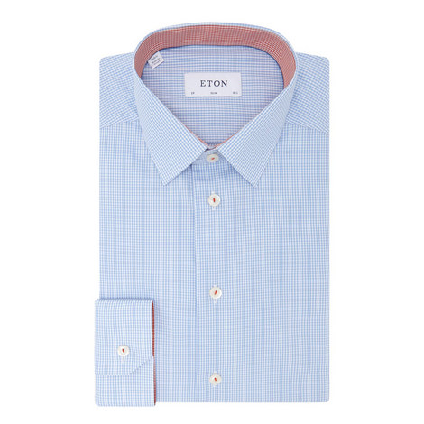 Micro-Gingham Print Shirt, ${color}