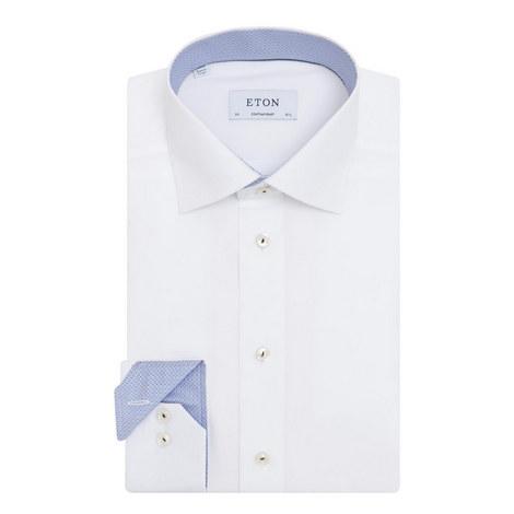 Contrasting Trim Contemporary Fit Shirt, ${color}