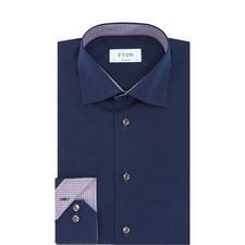 Contrasting Trim Contemporary Fit Shirt