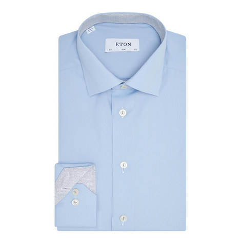 Circle Trim Slim Fit Shirt, ${color}