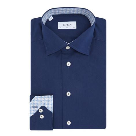 Grid Trim Slim Fit Shirt, ${color}
