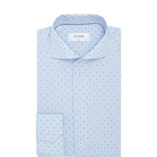 Micro Check Dot Print Shirt