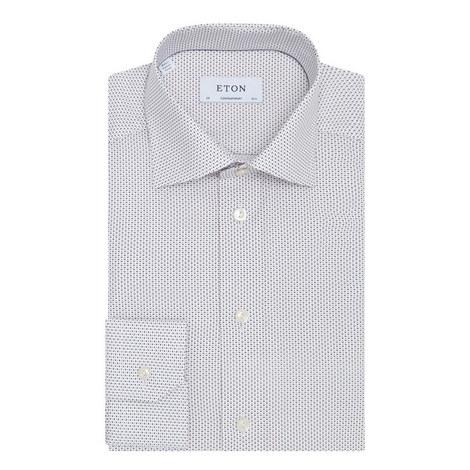 Micro Diamond Print Shirt, ${color}