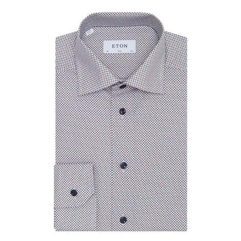 Micro Print Slim Fit Shirt, ${color}