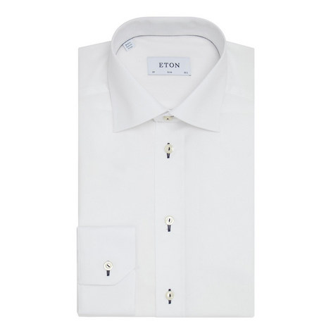Slim Fit Trimmed Shirt , ${color}