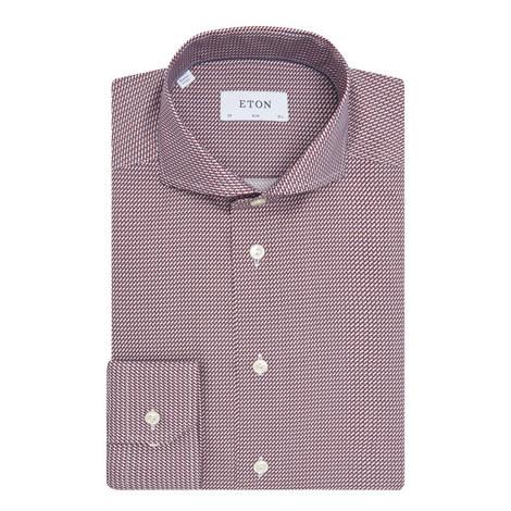 Micro Box Print Shirt, ${color}
