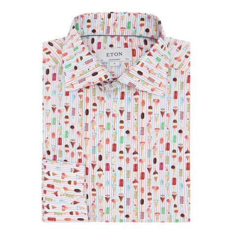 Ice Cream Print Shirt, ${color}
