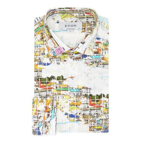 View Print Contemporary Fit Shirt, ${color}