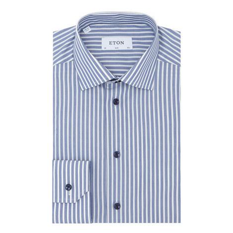 Slim Fit Stripe Shirt, ${color}