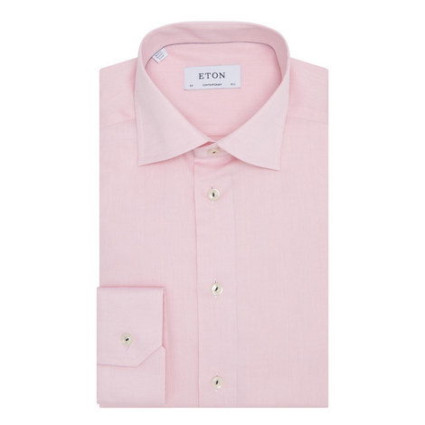 Trimmed Twill Shirt, ${color}