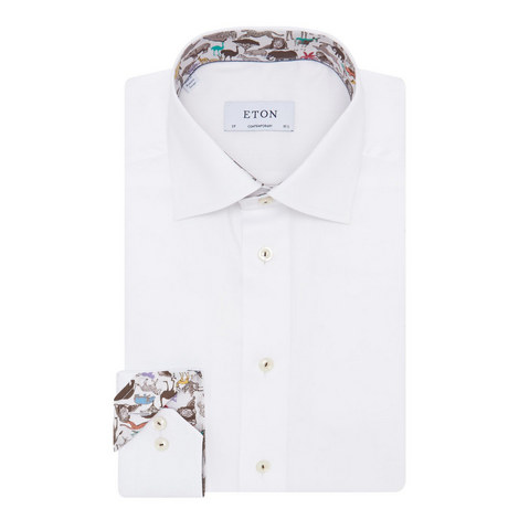 Safari Trim Contemporary Fit Shirt, ${color}