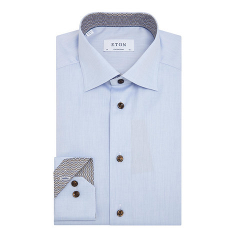 Bulldog Trim Twill Shirt, ${color}