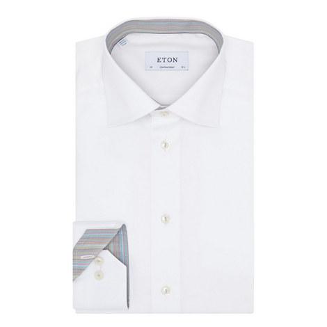 Multi-Stripe Trim Shirt, ${color}