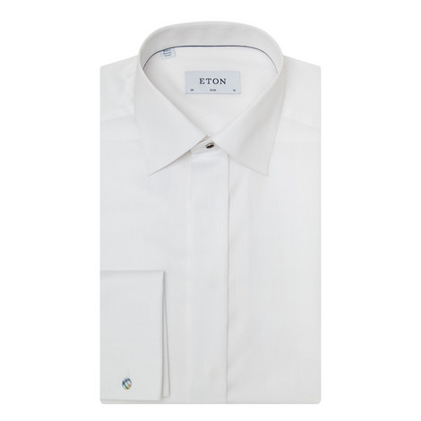 Slim Fit Double Cuff Shirt, ${color}