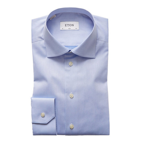Sky Slim Twill Shirt, ${color}