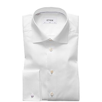 Slim Twill Double Cuff Shirt