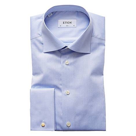 Twill Double Cuff Slim Shirt, ${color}