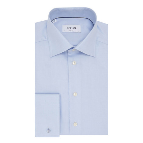 Double Cuff Twill Shirt, ${color}