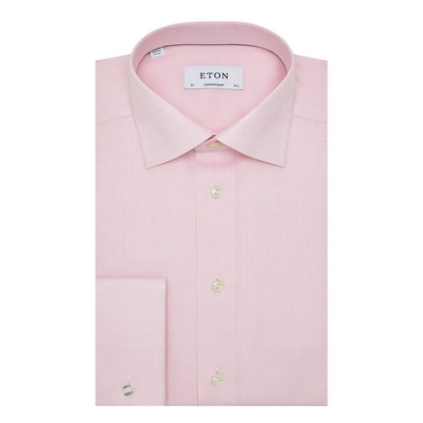 Herringbone Cotton Shirt, ${color}