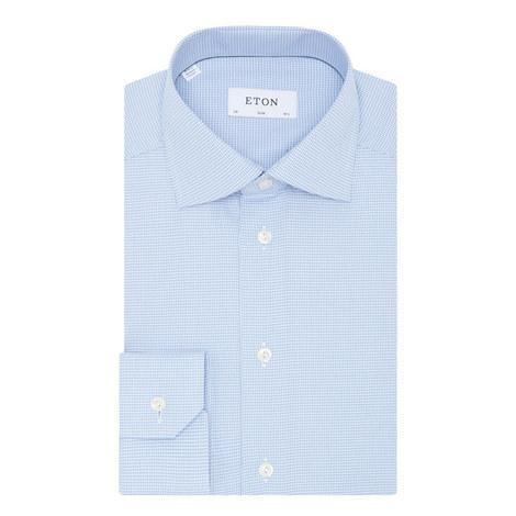 Slim Fit Micro Gingham Shirt, ${color}