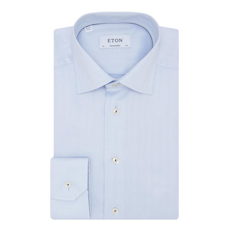 Herringbone Long Sleeve Shirt, ${color}