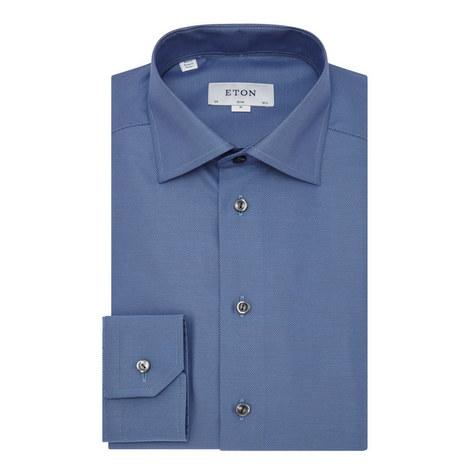 Textured Slim Shirt, ${color}