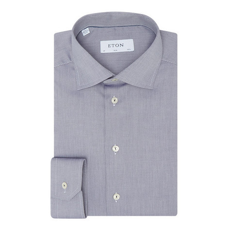 Slim Fit Textured Shirt, ${color}