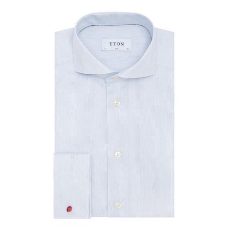 Fine Stripe Textured Shirt, ${color}