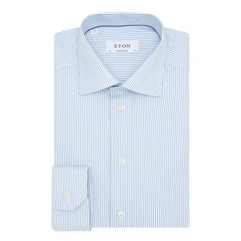 Contemporary Striped Shirt, ${color}