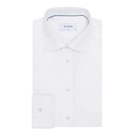 Slim Fit Double-Cuff Shirt, ${color}