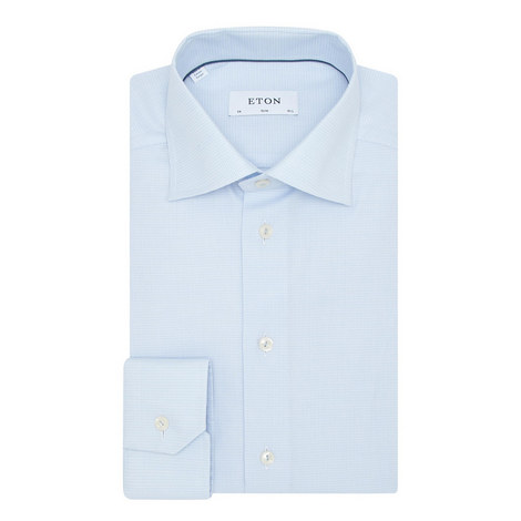 Slim Fit Grid Shirt , ${color}