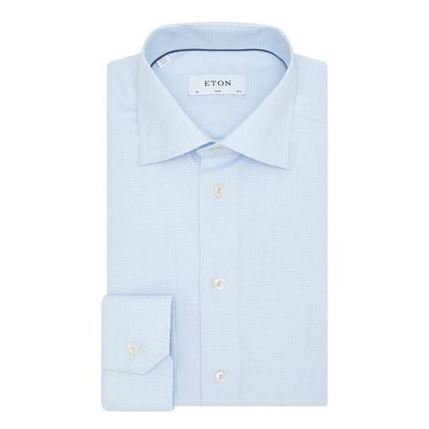 Slim Fit Grid Shirt, ${color}