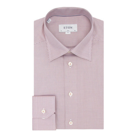 Textured Slim Fit Shirt, ${color}