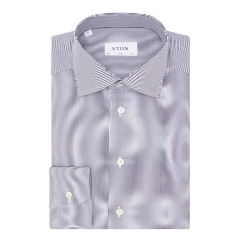 Slim Fine Stripe Shirt, ${color}
