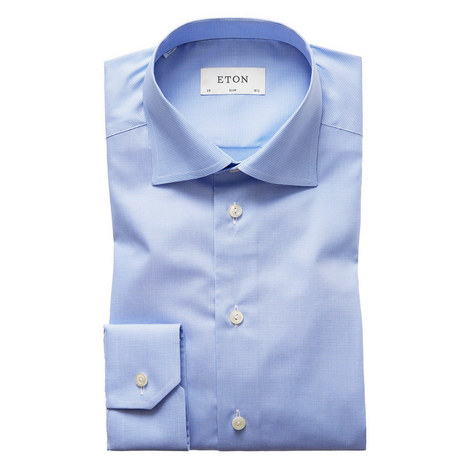 Gingham Slim Fit Shirt, ${color}