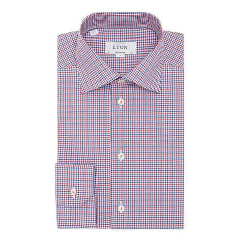 Multi Check Print Shirt , ${color}