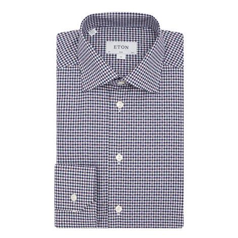 Gingham Pattern Shirt, ${color}