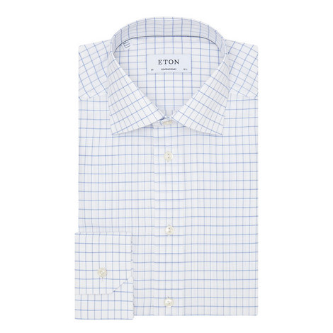Contemporary Fit Grid Check Shirt , ${color}