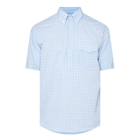 Short Sleeve Check Shirt, ${color}