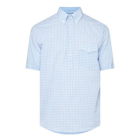 Short Sleeve Check Shirt, ${color}