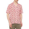 Palm Print Bowling Shirt, ${color}
