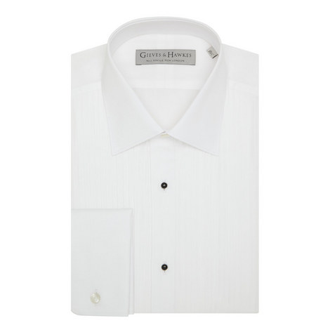 Double Cuff Cotton Dress Shirt, ${color}