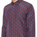 Placement Pattern Silk Shirt , ${color}
