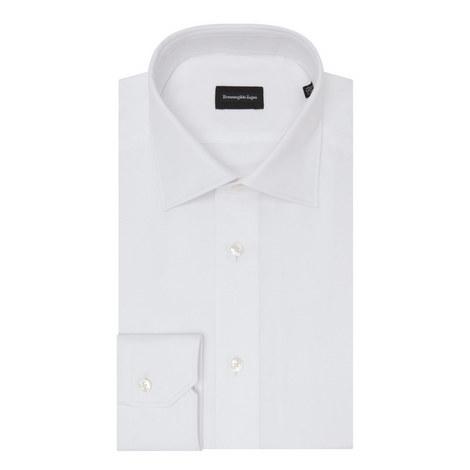 Slim Fit Plain Shirt, ${color}