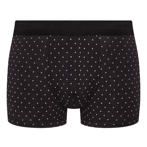 Dot Print Boxer Shorts, ${color}